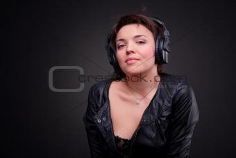 Beautiful Headphones Girl