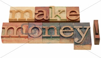 make money in letterpress type