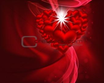 beautiful heart background.