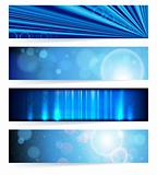 Set of abstract banners. Blue Design.