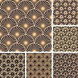 Seamless patterns with circle elements.