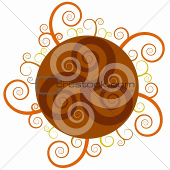 Abstract Swirl Circle