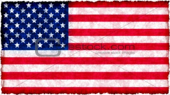 flag of united states of america on grunge
