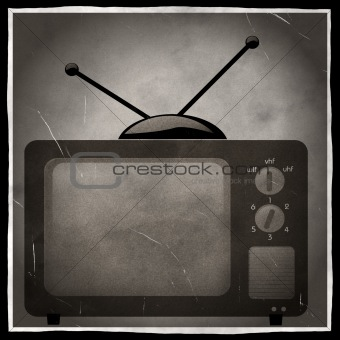 old black and white television photo