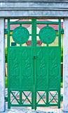 Green iron door
