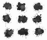 Black ink blobs