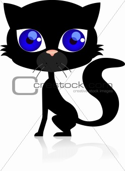 Black cat cartoon