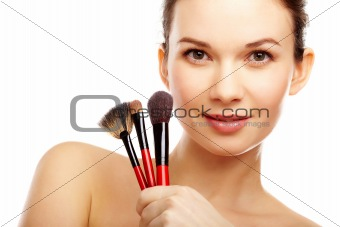 Model with brushes