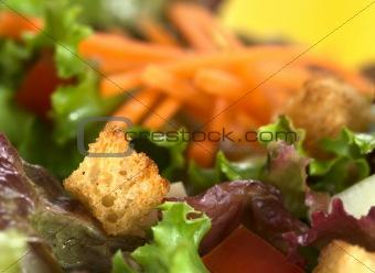Crouton on Salad