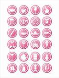 pink food signs