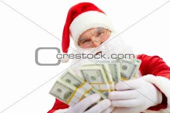 Santa with dollars