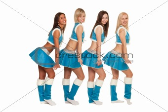 Group of girls dressed like snow maide