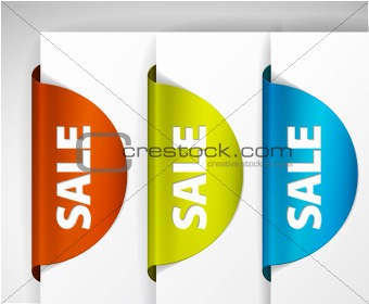 Round Sale Label set