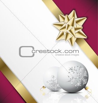 Christmas card with seasonal decorations