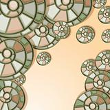 vector background with snail shells