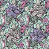 vector seamless hand drawn floral pattern