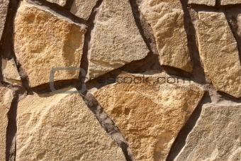Fragment of ornamental stone wall