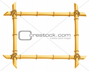 Image 3786063 wooden frame of bamboo sticks from Crestock Stock