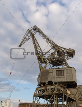 Old crane at harbour