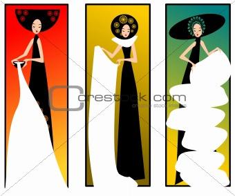 three lady.