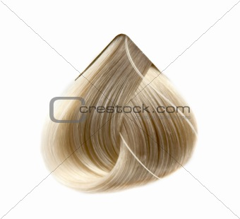 a strand of hair color