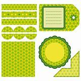 Easter set of green design elements