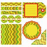 Easter set of stripe design elements