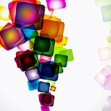 Vector abstract bright colorful background.
