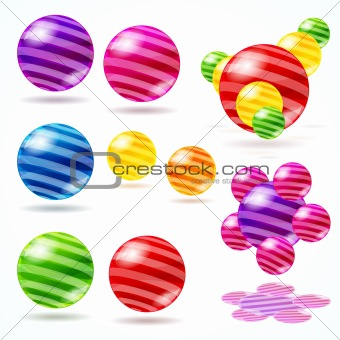 Abstract vector spheres.