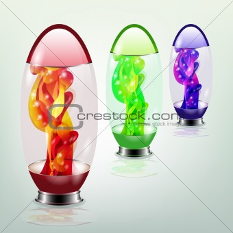Abstract fluid lamp. Vector.