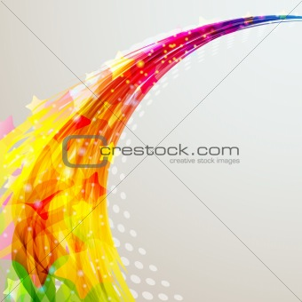 Abstract dynamic background. Vector