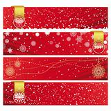 Vector Christmas Horizontal Banner