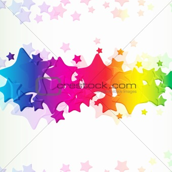 Abstract background with bright stars.