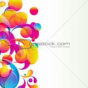 Abstract background with bright circles and teardrop-shaped arch