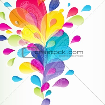 Abstract background with bright drop.