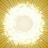 eps10 vector star shining round frame on a retro background.