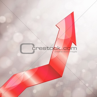 Abstract graphic of growth, vector illustration.