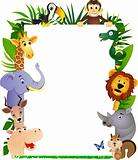 Animal cartoon frame