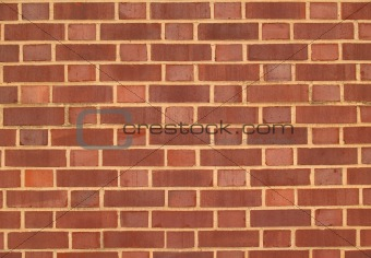Red and Brown Duo-Sized Brick Wall
