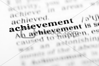 achievement (the dictionary project)
