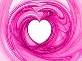 White Heart Among Pinks