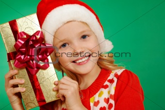 Girl with her gift