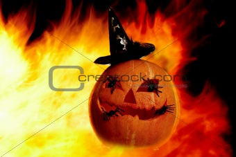 Flame with gourd