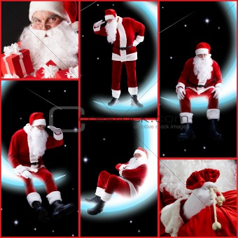 Collage of Santa Claus
