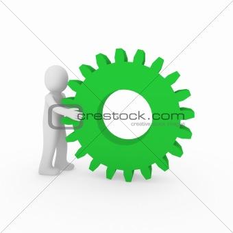 3d gear green human