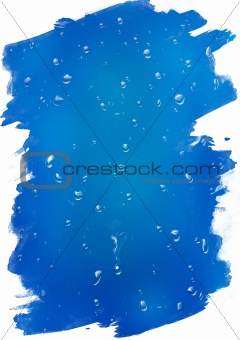 Clear water drops