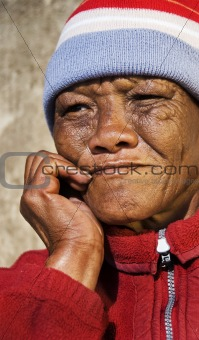 A Senior African woman