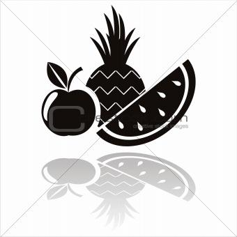 black fruits icon