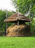 Old Ukrainian wooden hayloft