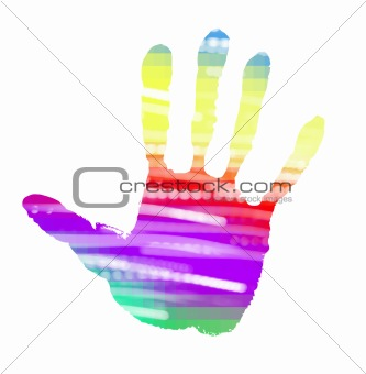 abstract handprint